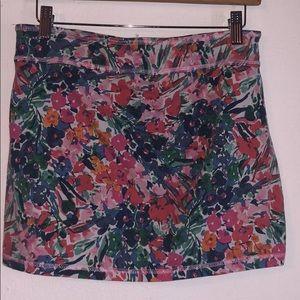 Large floral mini skirt
